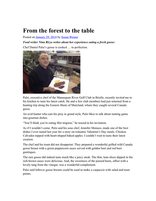 Daniel-Palsi-Portfolio- Forest to the table